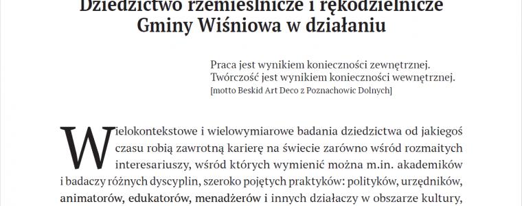 """Artykuł w ZWAM (""""Zbiorze Wiadomości do Antropologii Muzealnej"""")"""