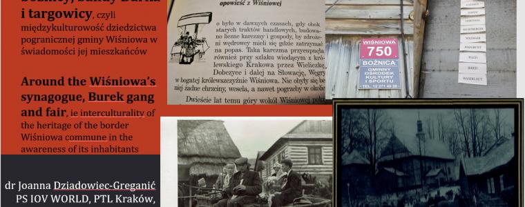Wokół wiśniowskiej bożnicy, bandy Burka i targowicy, czyli międzykulturowość dziedzictwa pogranicznej gminy Wiśniowa w świadomości jej mieszkańców